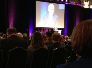 Listening to NAEA president address the 4000 art educators.