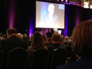 Listening to NAEA president address the 4000 art educators.