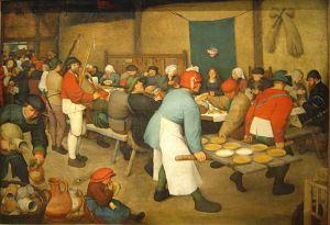 Pieter Brueghel the Elder,  The Peasant Wedding, 1568
