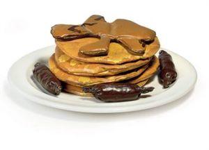 Claes Oldenburg, Pancakes and Sausage, 1962