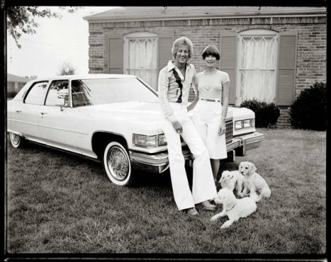 Bob Hower, Couple with White Cadillac. Jefferson County 1977