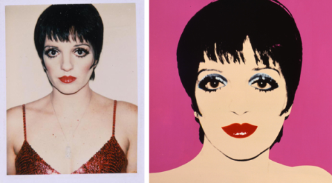 Andy Warhol, LizaMinelli, 1979, polaroid and painting,  courtesy Andy Warhol Museum