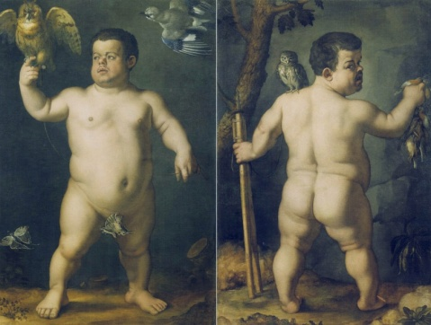 """Portrait of the Dwarf Morgante"" by Agnolo di Cosimo, called Bronzino. Uffizi Gallery, Florence"
