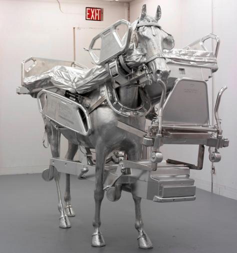 Urs Fischer, Bed/Horse 2013. Gagosian Gallery, Rome