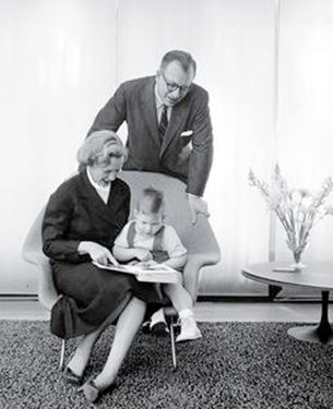 Eero, Aline, and Eames. Courtesy of Yale University Library