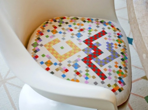 Each family members initials can be found inside the cushion designs. Photo: Indy Star