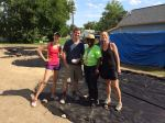 Eileen, Aldy, Ramona and Chenoweth volunteering at the labyrinth
